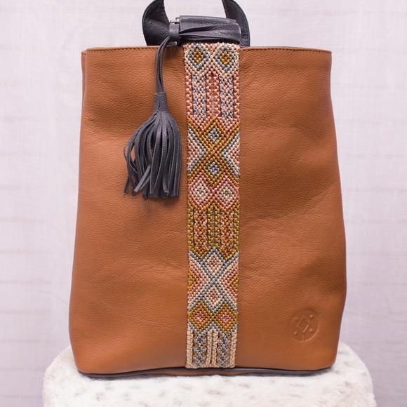 dc56f35d3b638 Cristina Orozco Tan Backpack. Boutique